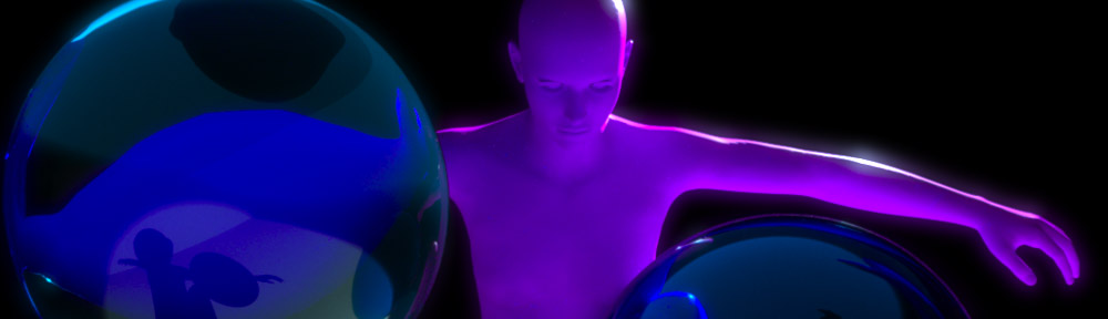 Genesis with orbs - LuxRender via luxus