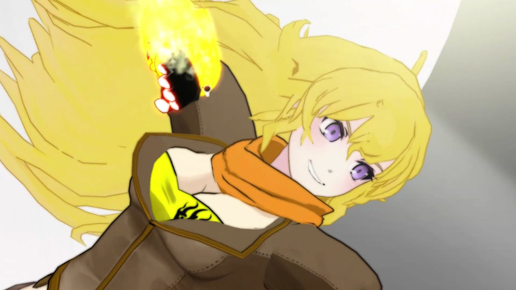 Roost Teeth RWBY anime Yang character (yellow)