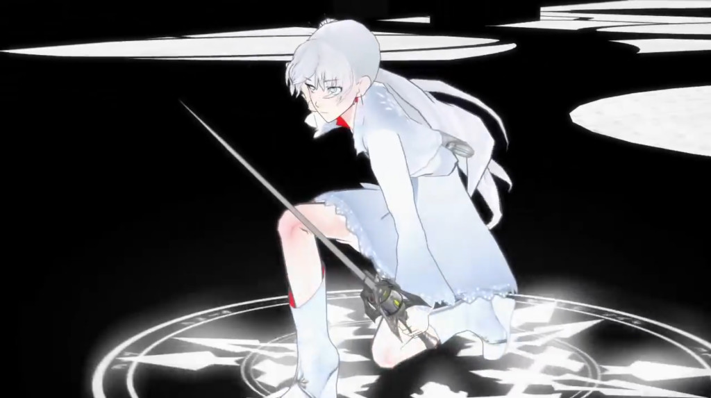 Rooster Teeth RWBY anime Weiss (white) character
