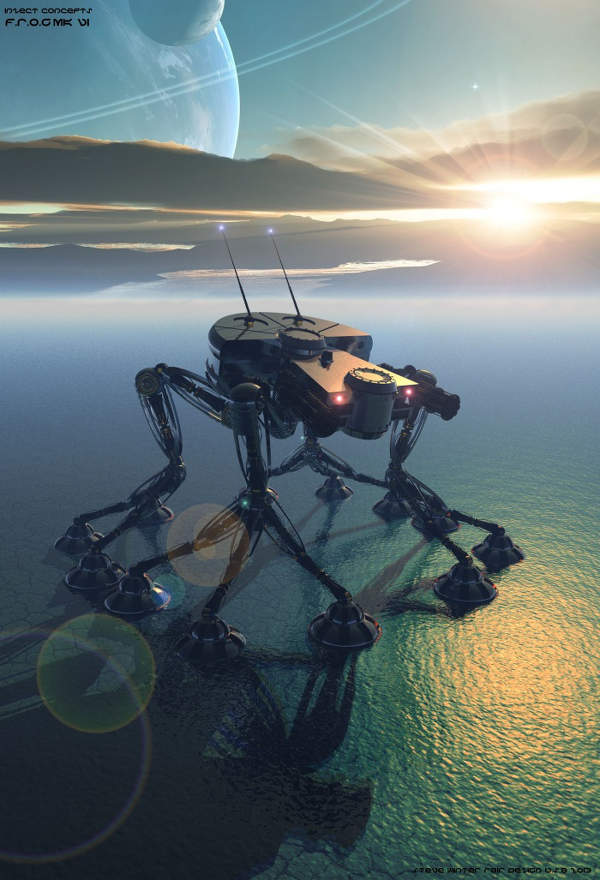 Steve Winten Bryce 3D image - robot on alien world
