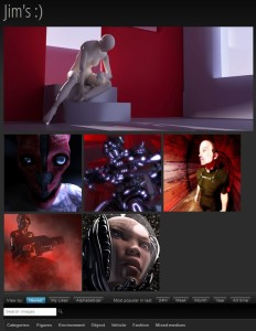 DAZ 3D user gallery