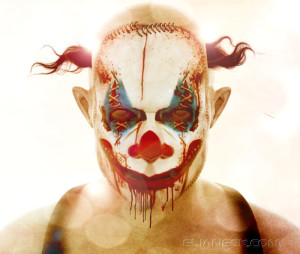 Creepy clown monster 3D rendering: Stan by Eliane CK