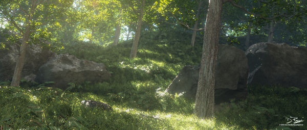 Vue 2014 - 3D forest rendering.