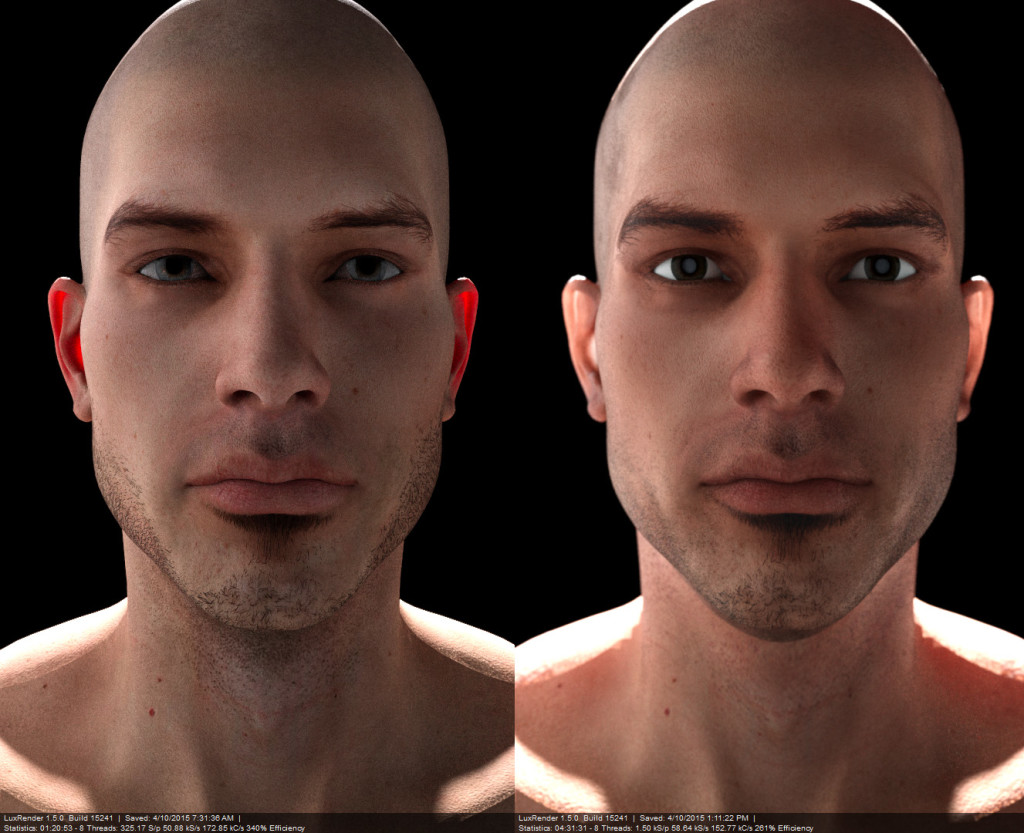 Reality on Right, Luxus on left. Both are flawed renders but Luxus gives many more options when setting up glossy translucent materials. Texture control maps are great for subtle tweaks.