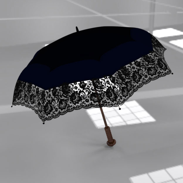 Parasol 3D model work in progress. Rendered in DAZ Studio.