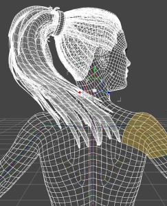 Wireframe rendering in daz studio: Longer hair props can unwantedly stick to the Genesis 8 figure after autofit