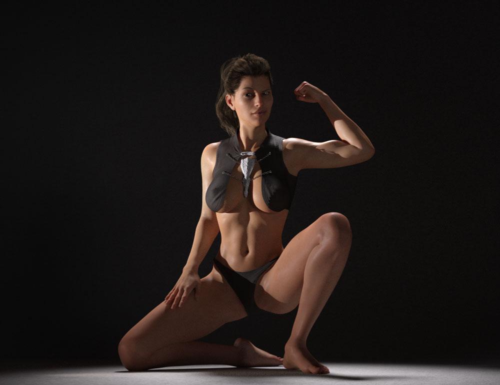 victoria_8_muscle_flex_3D_render - DigiSprawl