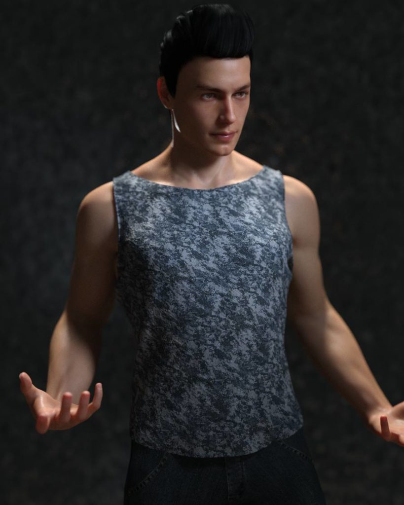 DAZ 3D's Michael 8 using stock and original content. Additional modelling and cloth simulation in LightWave.